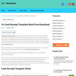 5+ Cash Receipt Template Word Free Download - XL Template