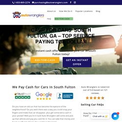 Cash For Cars South Fulton, GA // Get Up To $16,750 INSTANTLY!
