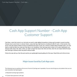 Cash App Support Number - Cash App Customer Support