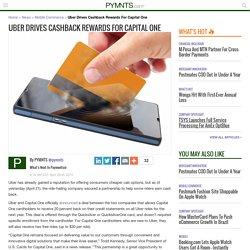 Uber Drives Cashback Rewards For Capital One