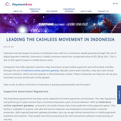 Leading the Cashless Movement in Indonesia