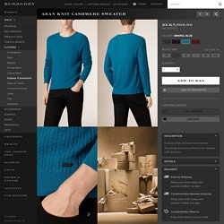 Aran Knit Cashmere Sweater Mineral Blue