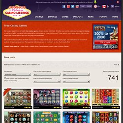Free Casino Games - slots, video poker, table games