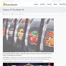 Coin Palace online Bitcoin casino reviews