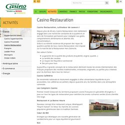 Casino Restauration – Groupe Casino FR