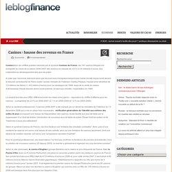 Casinos : hausse des revenus en France