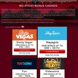 Online Casinos With Sticky Bonuses