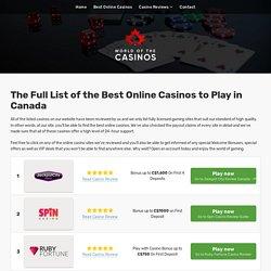 Best Online Casinos in Canada - Popular & Trusted Canadian Sites