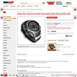 Casio Pro Trek Funk Solar Uhr Keele Peak PRW-5000-1ER nur 284,99 Euro. Uhr-Shop