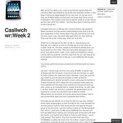 Casllwchwr:Week 2
