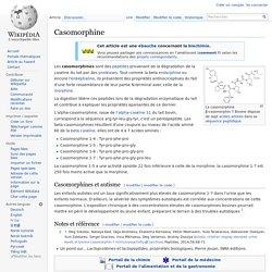 Casomorphine