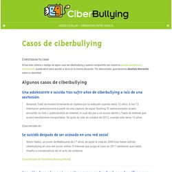 Casos de ciberbullying