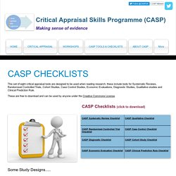 CASP Tools & Checklists