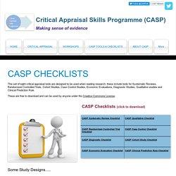 CASP Tools & Checklists