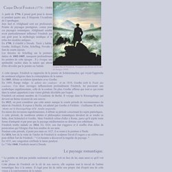 Caspar David Friedrich, Le paysage romantique, Le voyageur au-dessus de la mer de nuages