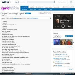 Casper:Jambalaya Lyrics - LyricWikia - song lyrics, music lyrics