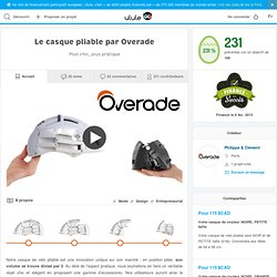 El casco plegable de Overade