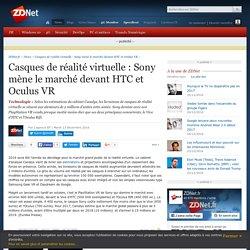 Casques de réalité virtuelle : Sony mène le marché devant HTC et Oculus VR - ZDNet