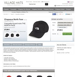 Casquette Hyvent noire THE NORTH FACE from Village Hats.