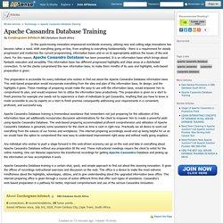Apache Cassandra Database Training