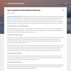 Tips for Apache Cassandra Database Monitoring