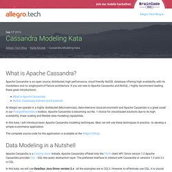 Cassandra Modeling Kata - Allegro Open Source