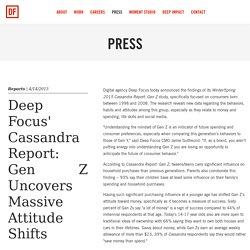 Deep Focus' Cassandra Report: Gen Z Uncovers Massive Attitude Shifts