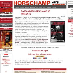 Cassandre/Horschamp se présente