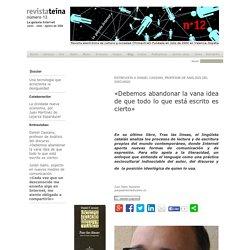 Entrevista a Daniel Cassany, internet y discurso