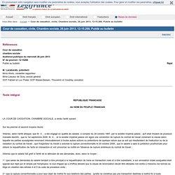 Cour de cassation, civile, Chambre sociale, 26 juin 2013, 12-15.208, Publié au bulletin