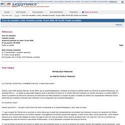 Cour de cassation, civile, Chambre sociale, 10 juin 2008, 06-19.229, Publié au bulletin