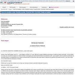 Cour de cassation, civile, Chambre sociale, 15 janvier 2014, 12-23.942, Publié au bulletin