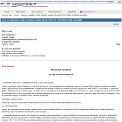 Cour de cassation, civile, Chambre sociale, 30 janvier 2013, 11-22.332, Publié au bulletin