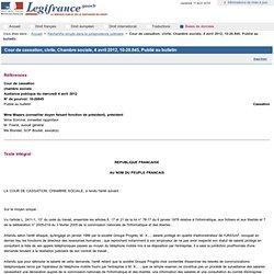 Confidentialité des salariés protégés : cass 4/12/12