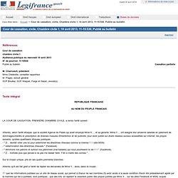 Injures sur Facebbook Cour de cassation, civile, Chambre civile 1, 10 avril 2013,