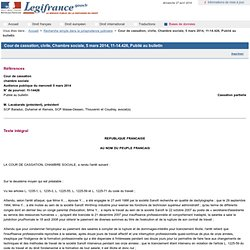 Cour de cassation, civile, Chambre sociale, 5 mars 2014, 11-14.426, Publié au bulletin