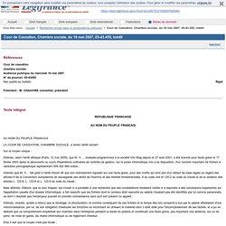 Cour de Cassation, Chambre sociale, du 16 mai 2007, 05-43.455, Inédit