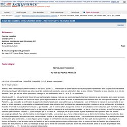 Cour de cassation, civile, Chambre civile 1, 20 octobre 2011, 10-21.251, Inédit