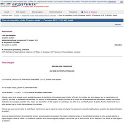 Cour de cassation, civile, Chambre civile 1, 17 octobre 2012, 11-21.641, Inédit