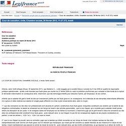Cour de cassation, civile, Chambre sociale, 26 février 2013, 11-27.372, Inédit