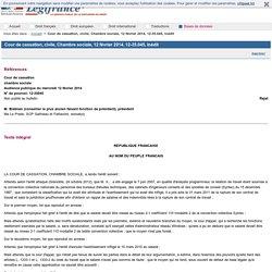Cour de cassation, civile, Chambre sociale, 12 février 2014, 12-35.045, Inédit