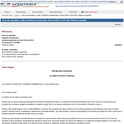 Cour de cassation, civile, Chambre commerciale, 29 avril 2014, 12-27.004, Publié au bulletin