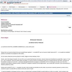Cour de cassation, civile, Chambre commerciale, 6 décembre 2017, 16-19.615, Publié au bulletin