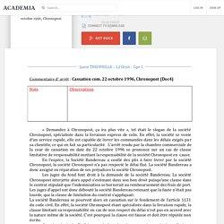Arrêt - Cassation com. 22 octobre 1996, Chronopost