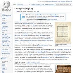 Casse (typographie)
