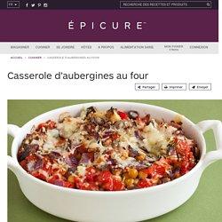 Casserole d'aubergines au four