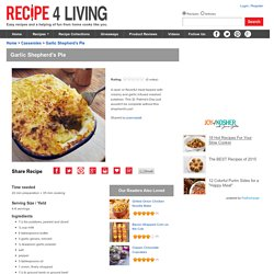 Garlic Shepherd's Pie Recipe