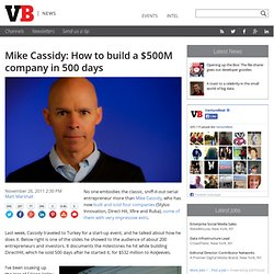 Mike Cassidy: How to build a $500M company in 500 days