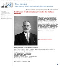 René Cassin et la Déclaration universelle des droits de l'homme