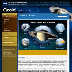 About Saturn & Its Moons